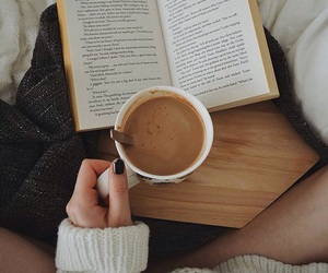 black nails, book, and cafe image