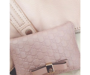 gucci, light pink, and wallet image