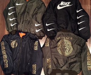 nike, Versace, and jacket image