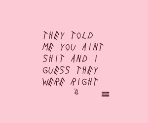 Drake, pink, and quotes image
