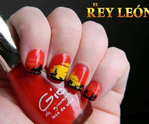 nails, disney, and lion king image