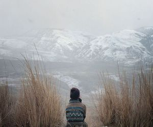 mountains, nature, and alone image