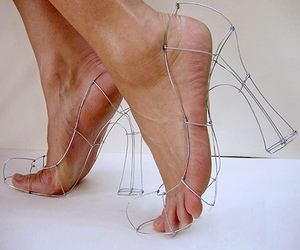 high heels, outline, and sandals image