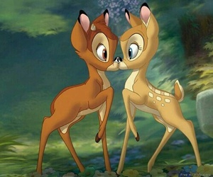 bambi, disney, and kiss image