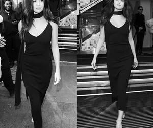 selena gomez, black and white, and black image