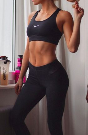 abs, black, and fitness image