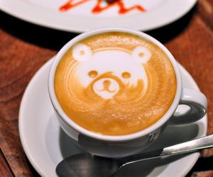 coffee, bear, and art image
