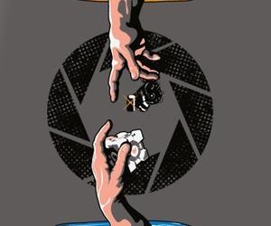 companion cube, portal, and valve image