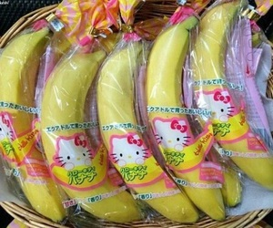 banana, hello kitty, and food image