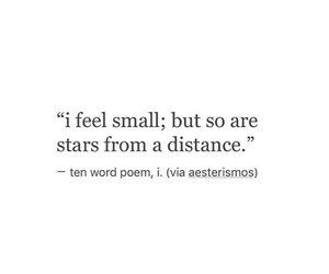 quotes, distance, and small image