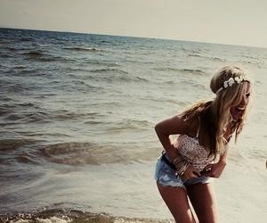 beach, fashion, and laugh image