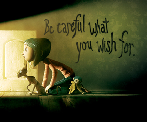 coraline, movie, and wish image