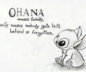 family, ohana, and stitch image