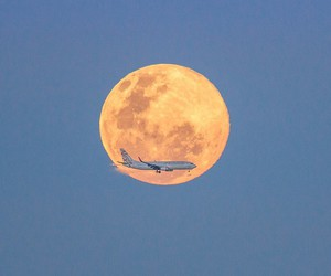 fly, moon, and travel image