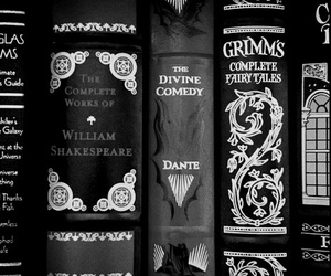 book, grimm, and black and white image