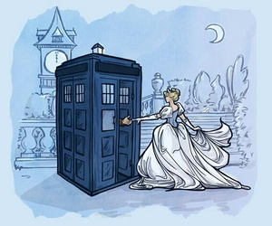 cinderella, disney, and doctor who image