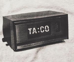 taco, clock, and vintage image