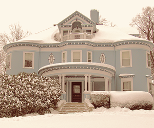 house, snow, and winter image