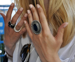 nails, rings, and blonde image