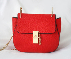bag, red, and gold image