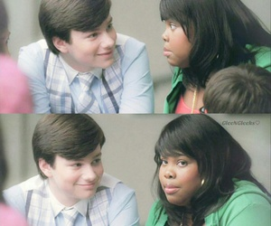 glee, amber riley, and chris colfer image