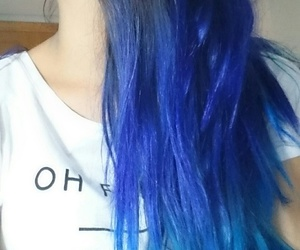 blue hair, me, and style image