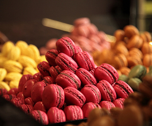 food, yummy, and macaroons image