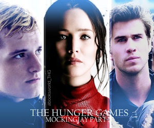 the hunger games, katniss everdeen, and gale hawthorne image