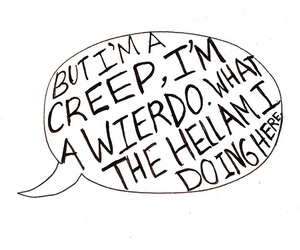 creep, radiohead, and Lyrics image