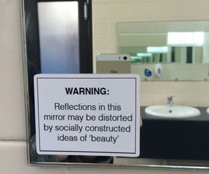 beauty, mirror, and quote image