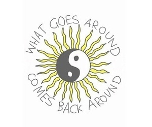 quote, sun, and karma image