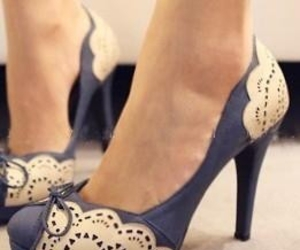 blue, shoes, and vintage image