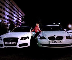 audi, bmw, and white image