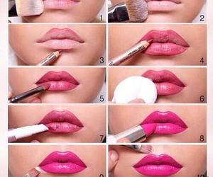 labios, make-up, and lips image