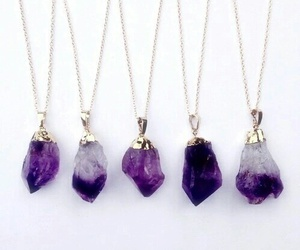 grunge, purple, and necklace image