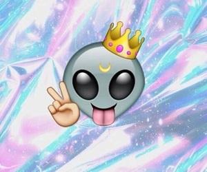 emoji, alien, and background image