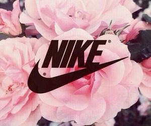 flowers, nike, and wallpaper image