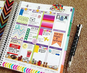 agenda, colors, and notebook image