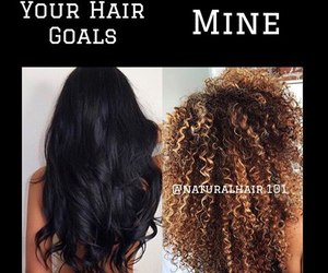 hair, curly, and goals image