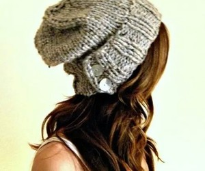 beanie, hair, and hat image