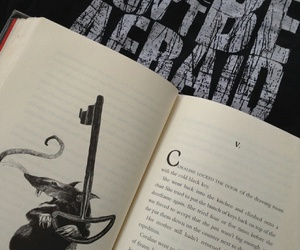 afraid, black and white, and books image