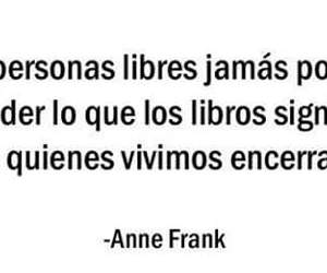 books, frases, and anne frank image