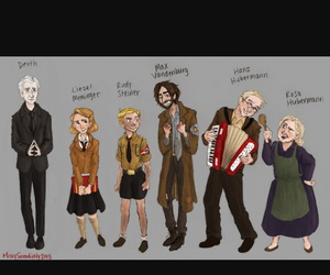 book, characters, and the book thief image