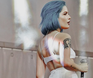 blue hair, picture, and short hair image