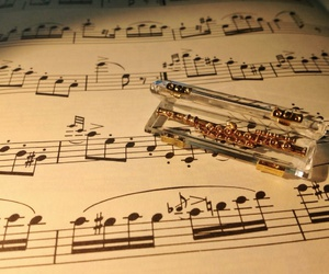 flute, music notes, and small image