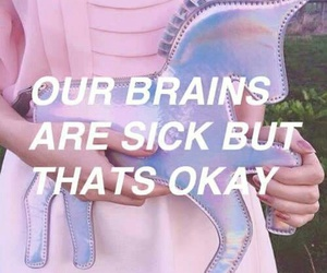 pink, unicorn, and quotes image