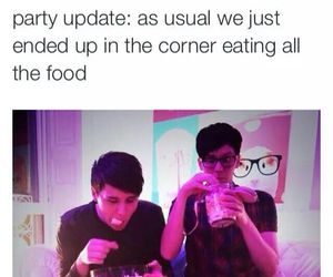 party, funny, and food image