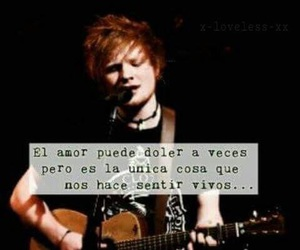 ed sheeran, frases, and photograph image