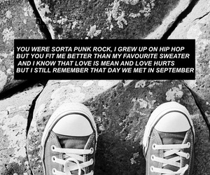 caps, converse, and Lyrics image