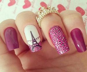 nails, pink, and paris image